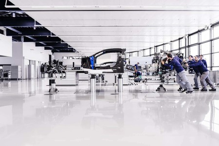 Fábrica Bugatti unión motor chasis