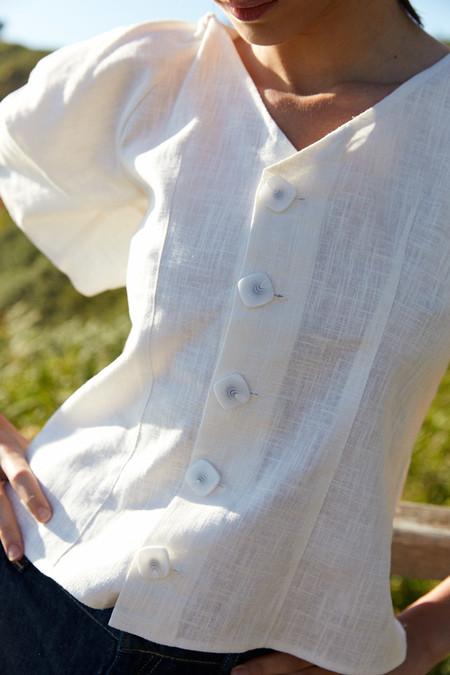 Tops Blusas Blancas Verano 2020 Sfera 01