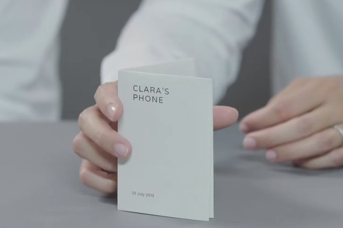Paper Phone: un teléfono de papel con 'aplicaciones propias' y desde el que puedes pagar