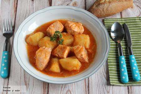 Marmitako de salmón. La receta de pescado más suave que gustará a todos