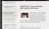 Reeder y Pulse, dos conceptos opuestos de lector de feeds para el iPad