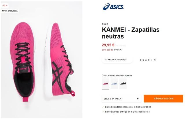 50% de descuento en Zalando en las zapatillas Asics Kanmei
