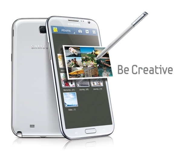 Samsung Galaxy Note 2 creativo