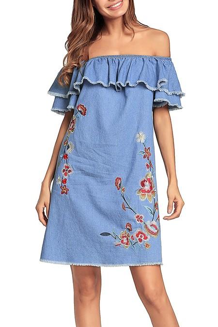 Vestido Bardot Amazon
