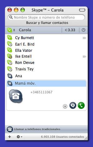 Skype 2.5. ya para Mac