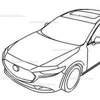 ¡Filtrado! El nuevo Mazda 3 Sedán se escapa a través de un puñado de bocetos