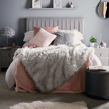 Beautify Manta Larga Gris de Piel Sintética Mongol - Sábana de Terciopelo Esponjosa para Dormitorio o Sofá - Manta Suave de Piel Sintética Gris para Sala de Estar