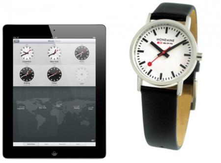 Apple copia el reloj patentado de los Ferrocarriles suizos