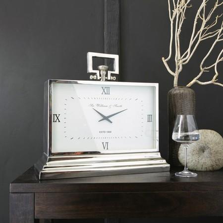 Reloj De Mesa De Metal Con Efecto Cromado L 47 1000 5 14 130599 4