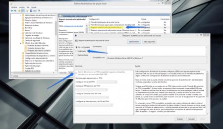 Cambio de las directivas de seguridad en Windows