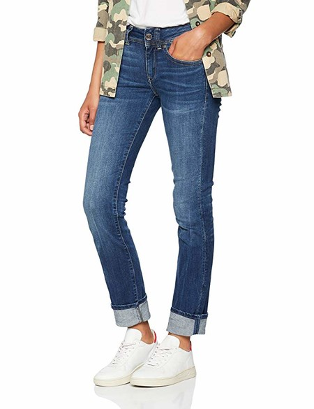 G-STAR RAW Midge Saddle Mid-Waist Straight Vaqueros Mujer