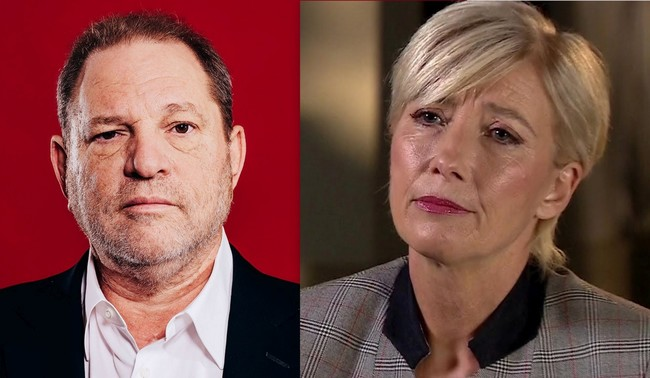 Harvey Weinstein y Emma Thompson