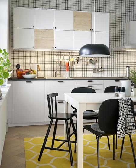 Cocina blanca y de madera Ikea 2020