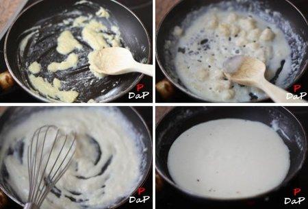 Paso a paso de la elaboración de la salsa bechamel
