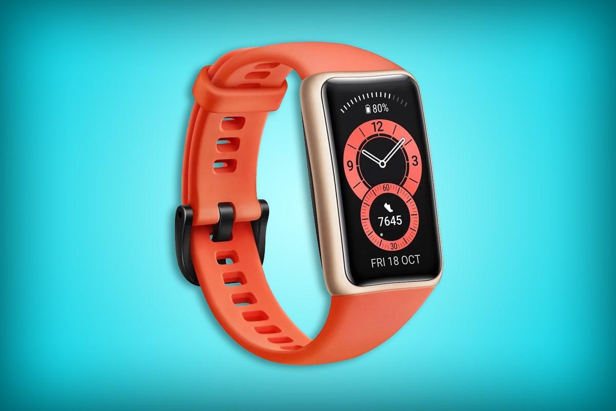 "Huawei Band 6 - Pantalla FullView 1.47"", monitoreo de SpO2, ritmo cardíaco y sueño, dos semanas de batería - Banda color naranja"