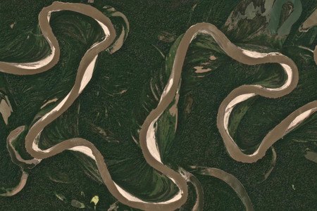 La transformación del cauce de un río a lo largo de 35 años, ilustrado en un fascinante gif