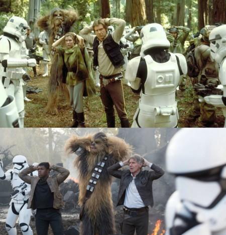 Dos imágenes de Star Wars