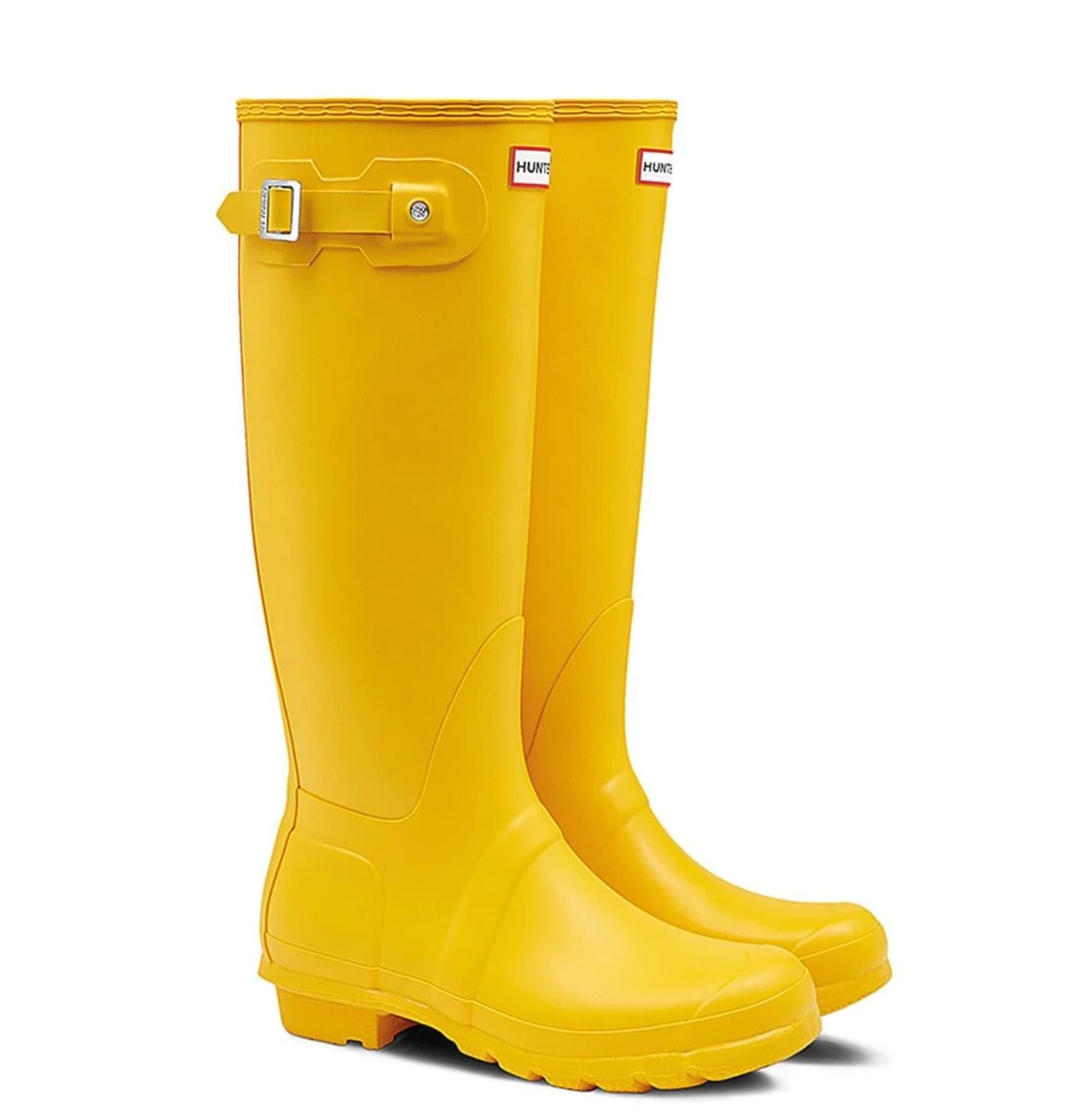 Botas de agua de mujer Hunter en amarillo de caña alta