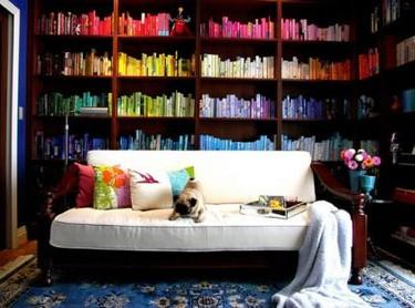 Utiliza tus libros para decorar, algunas ideas
