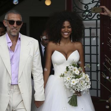Un novio vestido de blanco: así ha sido la boda de Vincent Cassel