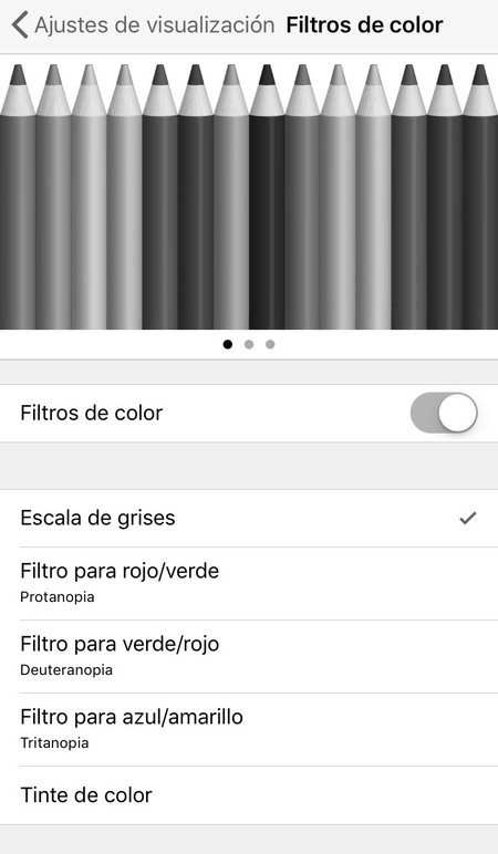 Ios 11 Apple Escala Grises Activada