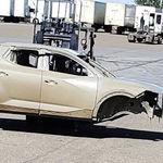¡Espiada! La Hyundai Santa Cruz va tomando forma: la pick-up coreana muestra su robusta silueta