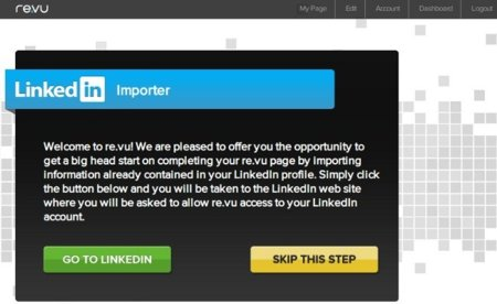 re.vu importa datos de LinkedIn
