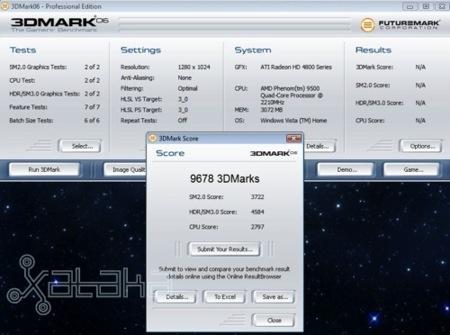 3DMark 06 on a ATi 4850