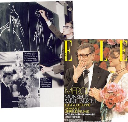 La edición francesa de Elle homenajea a Yves Saint Laurent