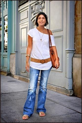 Looks de entretiempo vistos en la calle jeans