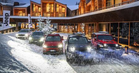 Toda la gama de Jeep reunida para que la manejes en la nieve