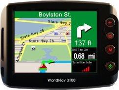 WorldNav 3100, te indica los nombres de las calles