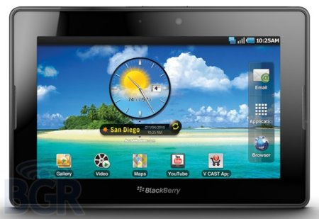 La Blackberry PlayBook podría ejecutar aplicaciones de Android