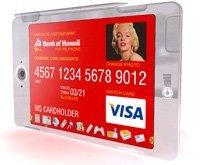 Tarjeta de crédito, de teléfono y llaves todo en una
