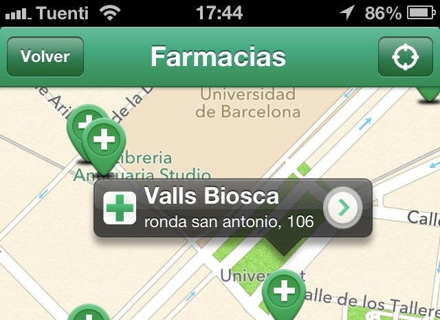 eframacias farmacias mapa app iphone
