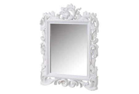 Espejo Cornucopia Clasico Blanco De Lolahome