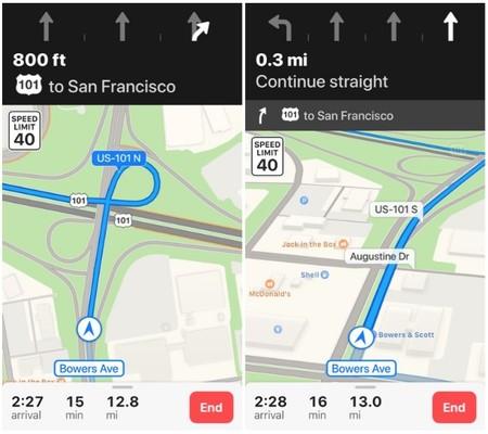 La indicación de carreteras en los mapas de iOS 11 llega a más países europeos