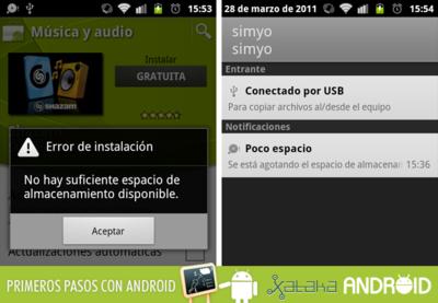 Primeros pasos con Android: Gestión de memoria