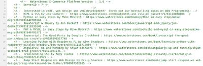 Si eres developer, el código fuente de Waterstones te recomienda libros
