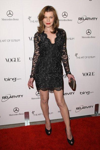 Mila Jovovich en la la Gala Art Of Elysium Heaven
