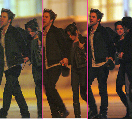 Robert Pattinson y Kristen Stewart hacen manitas en París