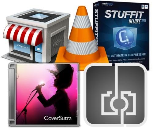 Actualizacionesdesoftware:VLC1.02,StuffitDeluxe,Checkout3,CoversutrayCameraBagparaMacOSX