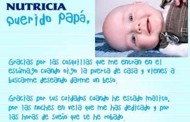 Felicitar a los papás en el Día del Padre con una carta y la foto del bebé