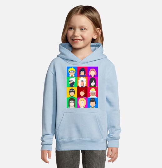 Sudadera para niños con capucha Iconos De Naruto