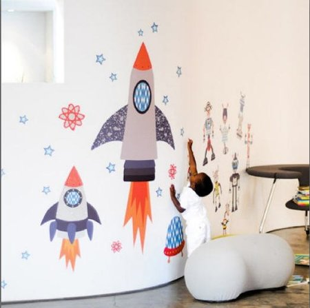 Vinilos serigrafiados sobre tela que nos abren un mundo de posibilidades en decoración infantil