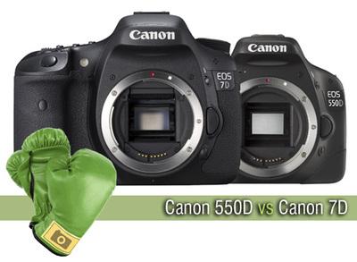 Canon 550D vs Canon 7D, comparativa a fondo
