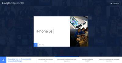 El iPhone 5s ha sido la tercera búsqueda más popular en Google durante todo 2013