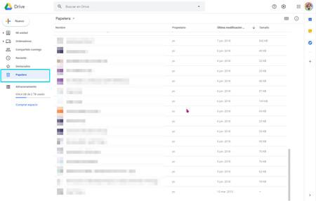 Google Drive Papelera