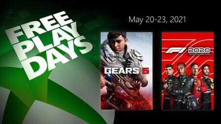 Gears 5 y F1 2020 están para jugar gratis este fin de semana con Xbox Live Gold en Xbox One y Xbox Series X/S