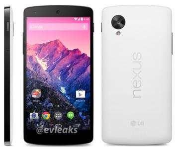 Nexus 5 ahora se viste de blanco y apunta su llegada para el 1 de Noviembre
